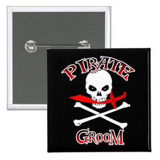 Pirate Groom Pinback Button