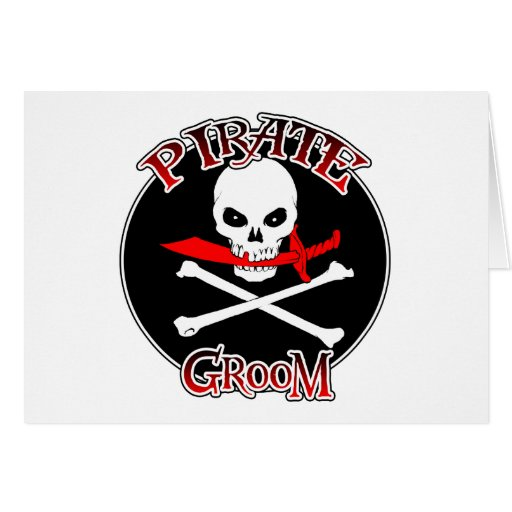 Pirate Groom Greeting Cards