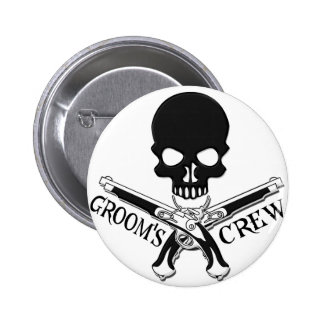 Pirate Groom s Crew Button
