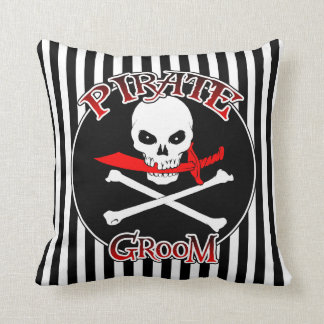 Pirate Groom Throw Pillow