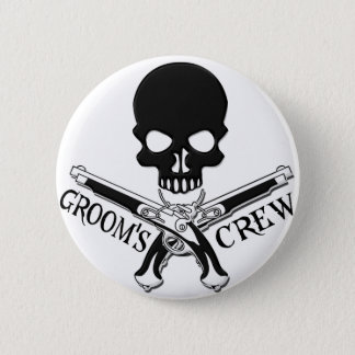 Pirate Groom's Crew Button