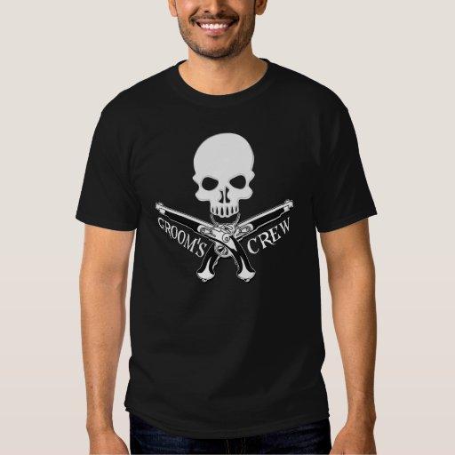Pirate Groom's Crew Dark T-Shirt