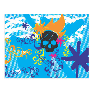 Pirate-Grunge-Graphics.ai Tarjeta Postal