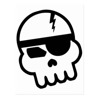 Pirate Hacker Skull Postcard