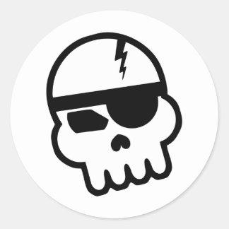 Pirate Hacker Skull Stickers