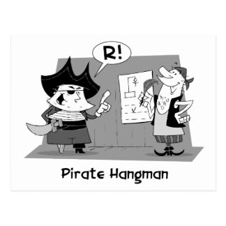 Pirate Hangman Postcard