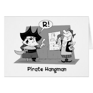 Pirate Hangman Thank You Card