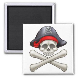 Pirate Hat Cartoon Skull and Crossbones Magnet