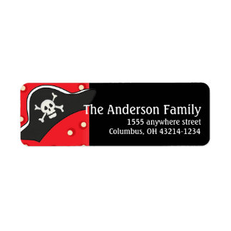 Pirate Hat Return Address Labels