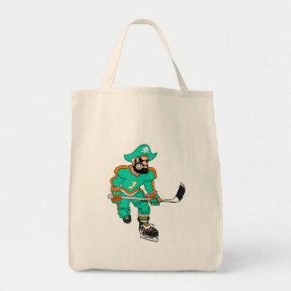 Pirate Hockey Player Tote Bag