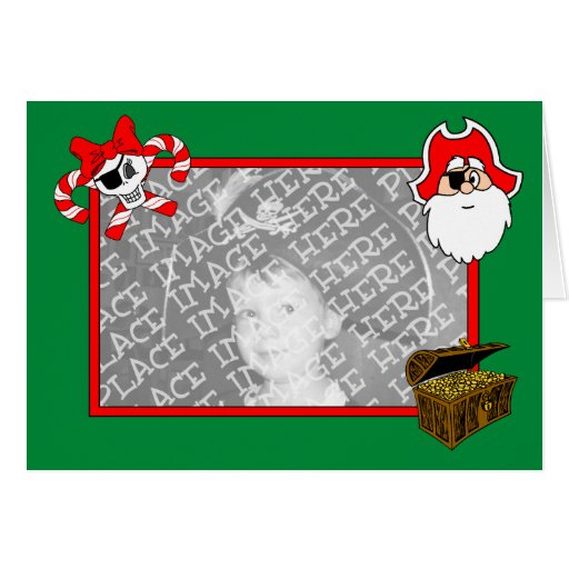Pirate Holiday Card Template (Design#1)