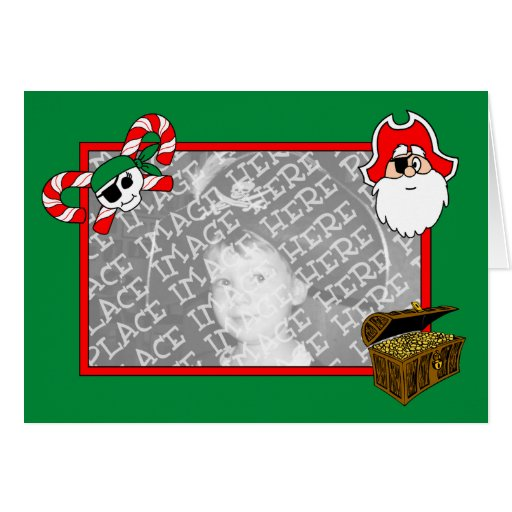 Pirate Holiday Card Template (Design#2)