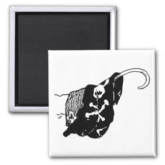 Pirate Hook 2 Inch Square Magnet