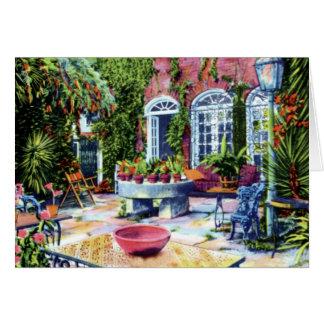 Pirate House Garden at Charleston South Carolina Cards