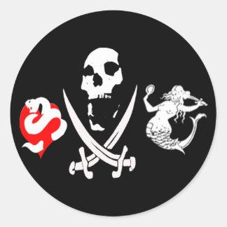 Pirate Icon #13 Classic Round Sticker