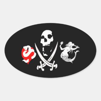Pirate Icon #13 Oval Sticker