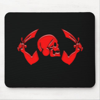 Pirate Icon #3-Red Mouse Pad