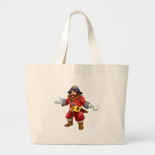 Pirate illustration tote bag