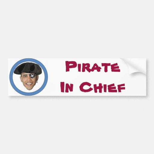 Pirate In Chief Bumper Sticker