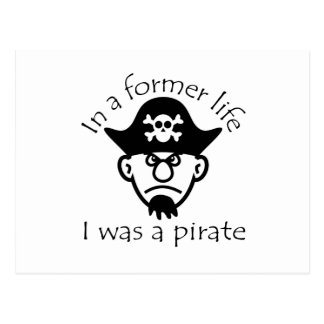 Pirate in Former Life Postcard