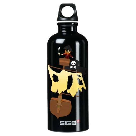 Pirate in Ghost Ship Water Bottle