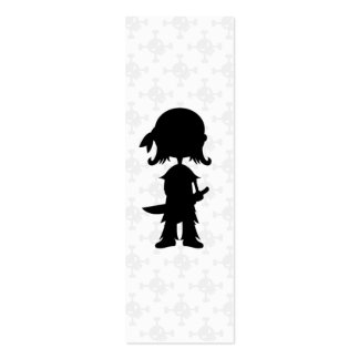 Pirate in Silhouette Bookmark Double-Sided Mini Business Cards (Pack Of 20)