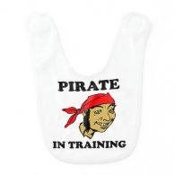 Pirate In Training Baby Bib