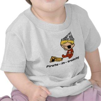 Pirate in Training baby t-shirt shirt