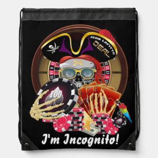 Pirate Incognito IMPORTANT Read About Design Drawstring Backpack