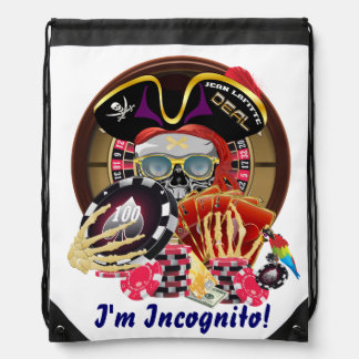 Pirate Incognito IMPORTANT Read About Design Drawstring Backpacks