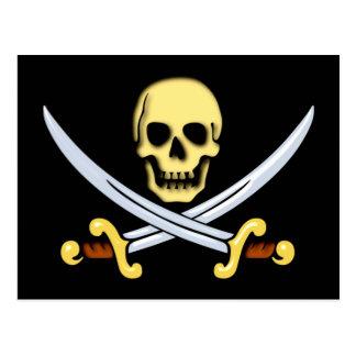 Pirate indication logo of pirates sign postcard