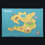 """Pirate Island Adventure Treasure Map For Boys Placemat<br><div class=""""desc"""">A dining placemat for boys to give them a sense of adventure! Great for boys who love pirate and navigation theme. This design has a map of an island with lots of details which include compass, huts of the indigenous people living on the island, the jetty, the sharks, the pink...</div>"""