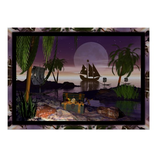 Pirate Island by David Wilder Poster