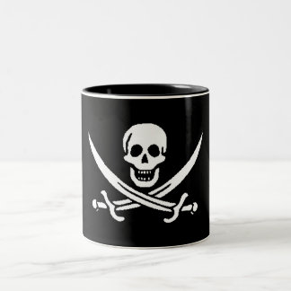 pirate-jack-rackham Two-Tone coffee mug