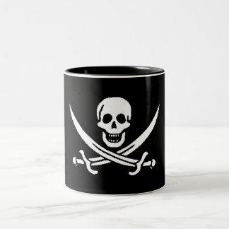 pirate-jack-rackham Two-Tone coffee mug