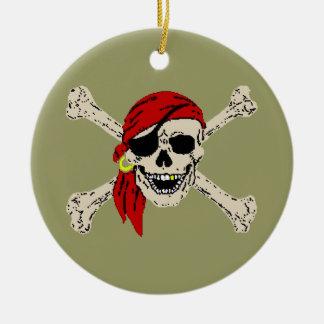 Pirate Jolly Roger Ceramic Ornament