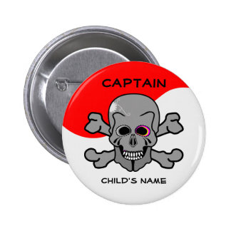 Pirate, Jolly Roger Pinback Button