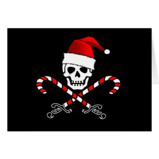 Pirate Jolly Roger Santa Christmas Card