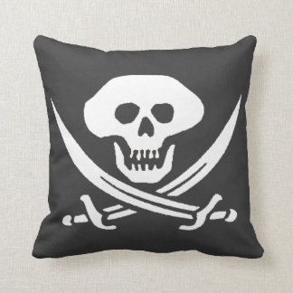 Pirate Jolly Roger Skull Throw Pillow