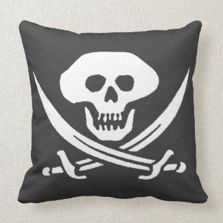 Pirate Jolly Roger Skull Throw Pillows