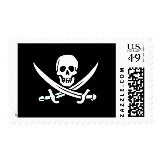 Pirate Jolly Roger stamp