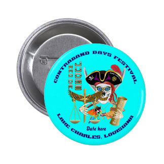Pirate Judge Contraband Days Round Only Pinback Button