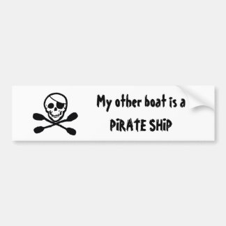 Pirate Kayak Flag Boat Sticker
