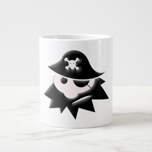 Pirate Kid 20 Oz Large Ceramic Coffee Mug