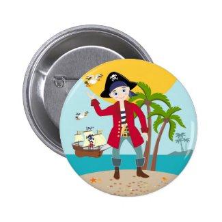 Pirate kid birthday party 2 inch round button