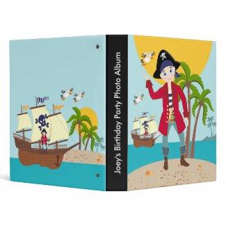 Pirate kid birthday party binder