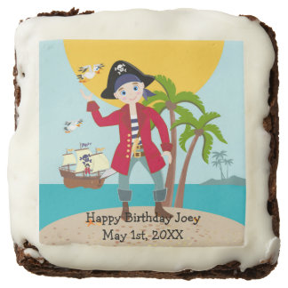 Pirate Kid Birthday Party Brownie