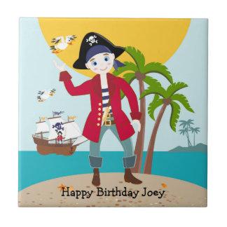 Pirate kid birthday party ceramic tile
