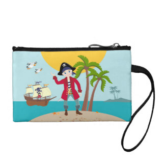 Pirate kid birthday party coin purse