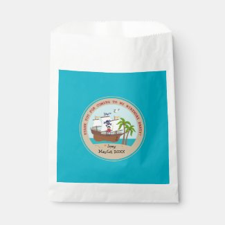 Pirate kid birthday party favor bags